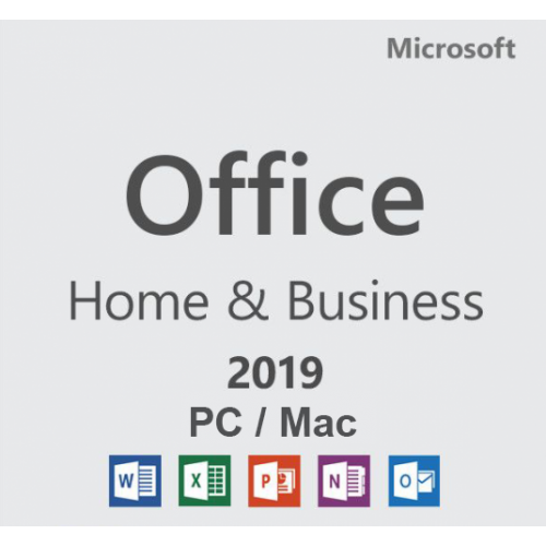 Microsoft Office 2019 Home and Business, 32/64 bit, Toate limbile, Licenta electronica pentru Windows si Mac